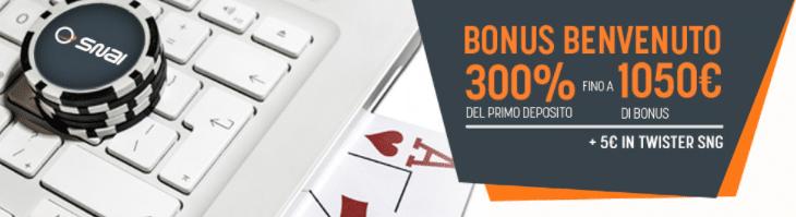 Snai poker bonus