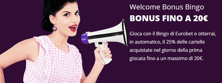 Eurobet bonus bingo