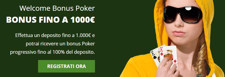 Eurobet bonus poker