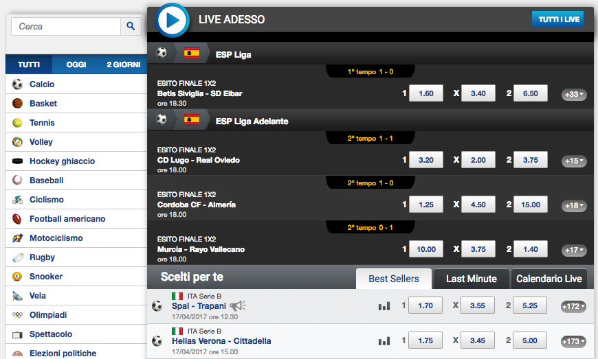 Sisal Matchpoint scommesse