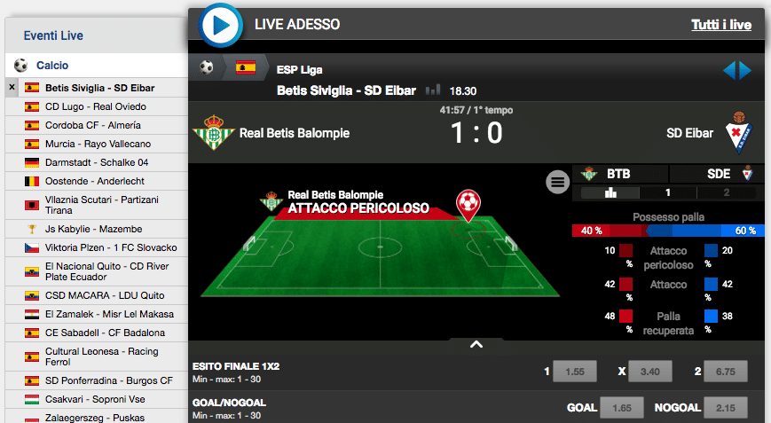 Sisal Matchpoint live
